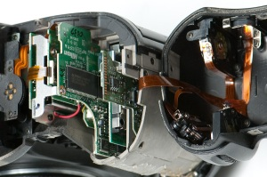 Inside the D2H battery grip