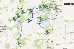 Road Trip Map Actual